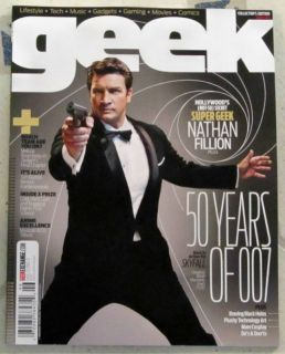 Geek Magazine Issue 3 Nathan Fillion 50 Years of 007 Skyfall Tim