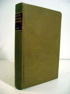 1824 James Boswell The Life of Samuel Johnson 4 Vols