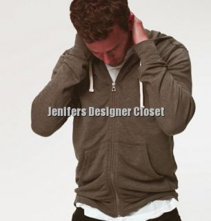 James Perse Long Sleeve Hoodie Fleece 5 XXL 2XL Zip Up Jacket Vintage