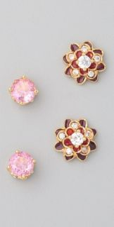 Juicy Couture Red Flower Stud Earring Set