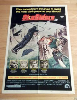 RIDERS Original One Sheet MOVIE POSTER JAMES COBURN Aviation Terror NM