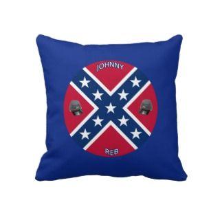 Confederate Flag Throw Pillows
