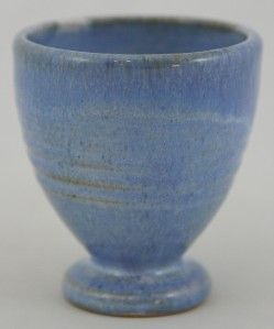 Shearwater 3 5 Egg Cup Vase by James Anderson 2002 Blue Flowing Glaze