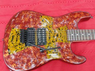 Jackson Guitar w Skull Cross Art Work