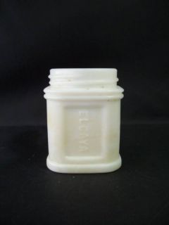Vintage James C Crane NY El Caya White Milk Glass Jar