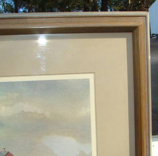 SN Listed Artist James Colway Maritime Harbor Scene Boat Print
