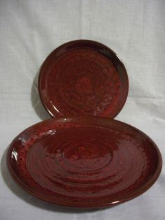 Jaclyn Smith Today Red Black Dinnerware Plates