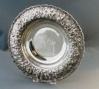 Fine Antique Jacobi & Jenkins Large Sterling Silver Repousse Serving