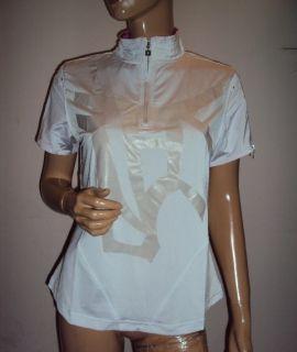 Jamie Sadock Hager White Mulberry Golf Stretch Shirt Sz L