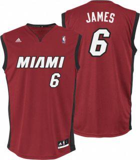 Lebron James Jersey Adidas Revolution 30 Red Replica 6 Miami Heat