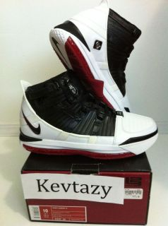 Nike Zoom Lebron James III 3 White Black Varsity Crimson Red