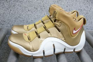 DS 2006 Zoom Lebron James IV 4 All Star Gold Foamposite Galaxy US9 5