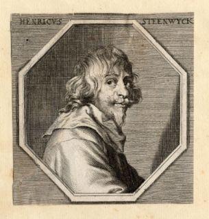 Antique Portrait Print Henricus Steenwyck Sandrart 1675