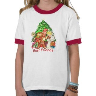 Cute Gingerbread man and friends T Shirts
