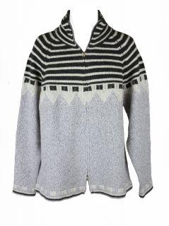 Scott James Mens Lamar Mock Neck Zip Up L s Cardigan Sweater $150 New