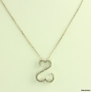 Jane Seymour Open Hearts Collection Pendant and Necklace   14k White