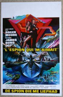 THE SPY WHO LOVED ME James Bond R Moore VINTAGE ORIGINAL Belgian movie