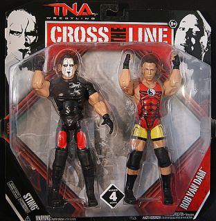 Van Dam Sting TNA Cross The Line 4 Jakks Toy Wrestling Figures
