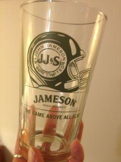 Jameson Irish Whiskey Football Pint Glass Limited