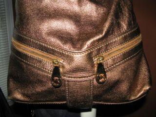 Michael Kors Bronze Leather Jamesport Large Shoulder Tote Bag Handbag