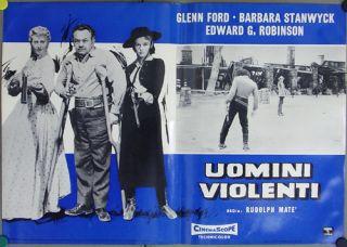 THE VIOLENT MEN   GLENN FORD   BARBARA STANWYCK   Great Rare