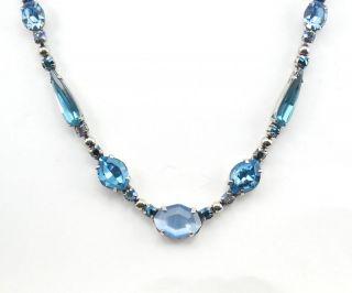 Sorrelli Ice Blue Crystal Necklace