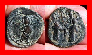 Byzantine Constantine x Ducas Over Struck Error Jesus Christ Cross