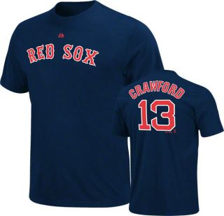 Carl Crawford Boston Red Sox Player Name Number Jersey T Shirt Mens s