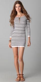 Indah Classic Parisian Stripe Cashmere Dress