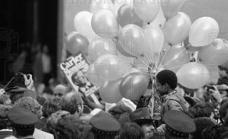 1980 35mm Negs Pres Jimmy Carter at Campaign Rally Daley Center 2