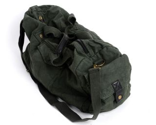 Jasminesmart Wholesale Army Green Canvas Travel Camping Luggage