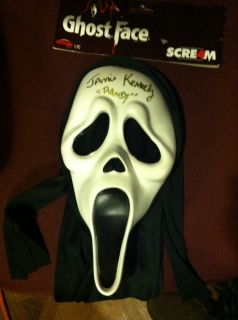 JAMIE KENNEDY Hand Signed Autographed SCREAM MASK Authentic Proof