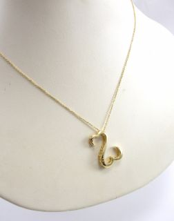 """Jane Seymour 14k Yellow Gold Necklace Open Hearts 18"""""""