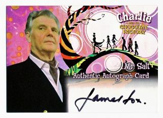 Charlie and The Chocolate Factory James Fox Autograph Mr Salt