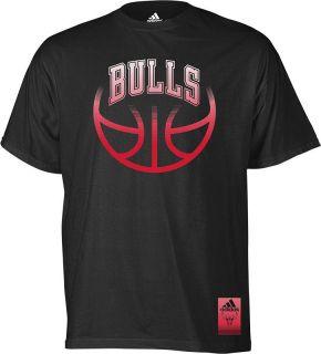Chicago Bulls Adidas Black Vibe Wordmark T Shirt Mens Sz s 2XL