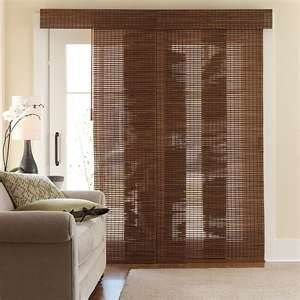 JCPenny Cindy Crawford Costa Sliding Bamboo Panel 20X82 Walnut (SET of