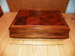 Vintage Jay Import Co Wood Jewelry Box