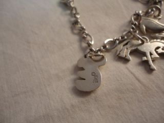 James Avery Sterling Silver Charm Bracelet Misc Wells Ja Mexico Charms