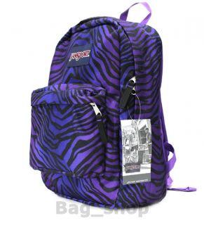 Jansport Superbreak Super Break Black Purple Zebra Backpack School Bag