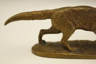 Circa 1860 French Small Cabient Bronze of A Standing Fox by PJ Mene No