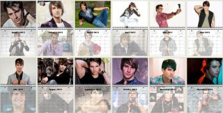 James Maslow Big Time Rush January December 2013 Photo Wall Calendar
