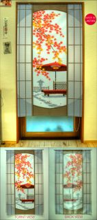 New Japanese Style Door Window Curtain Japan Red Leaves Noren 150cm x