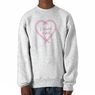 Breast Cancer   I Bleed Pink Pullover Sweatshirts