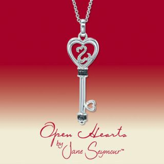 Open Hearts by Jane Seymour Diamond Key Necklace