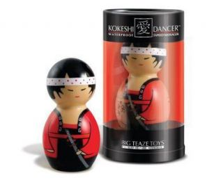 Kokeshi Japanese Doll Japans Samurai Warrior Vibrating Massager