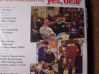 YES DEAR TV SERIES JEAN LOUISA KELLY 2002 EMMY DVD 2 EPS NEW & SEALED