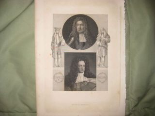 Antique 1878 James II of England Roman Catholic King Royalty Print