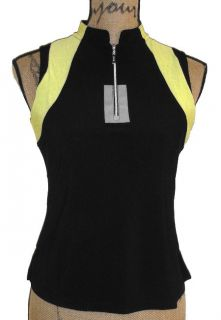 DKNY by Jamie Sadock Sleeveless Citrine Collection Golf Shirt Top