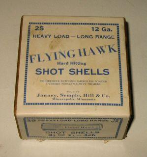 Janney Semple Hill FLYING HAWK Shot Gun Shell Cartridge Ammo Box