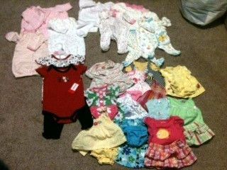 Huge Girls Clothing Lot 24 Items Size Newborn
